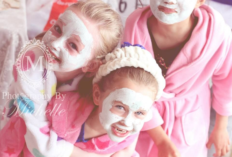 They loved their mini facials...