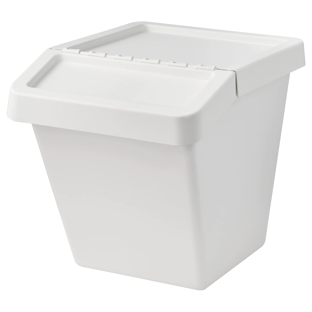 Sortera Recycling Bin With Lid White 16 Gallon Ikea Recycling Bins Ikea Ikea Storage