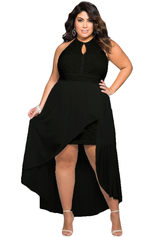 Stylish Black Lace Special Occasion Plus Size Dress | Plus ...