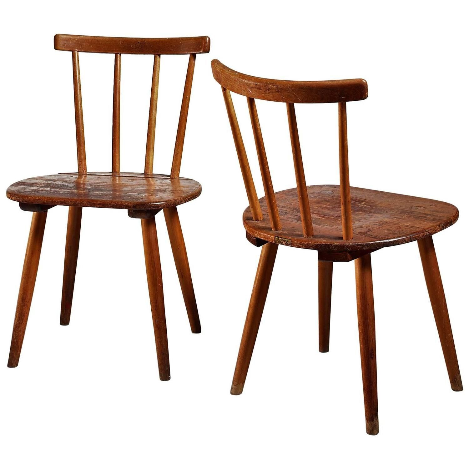 Pair of tubinger chairs by adolf g schneck germany 1930s