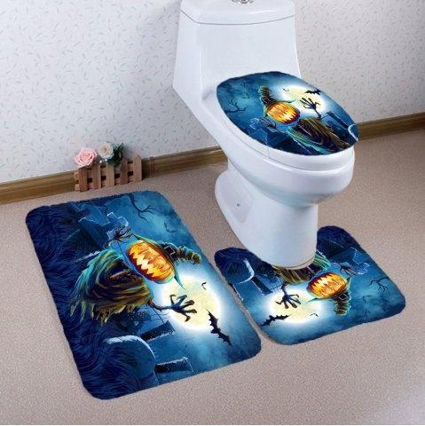 RoseGal - RoseGal Pumpkin Grave 3Pcs Bathroom Mats Set - AdoreWe - halloween bathroom sets