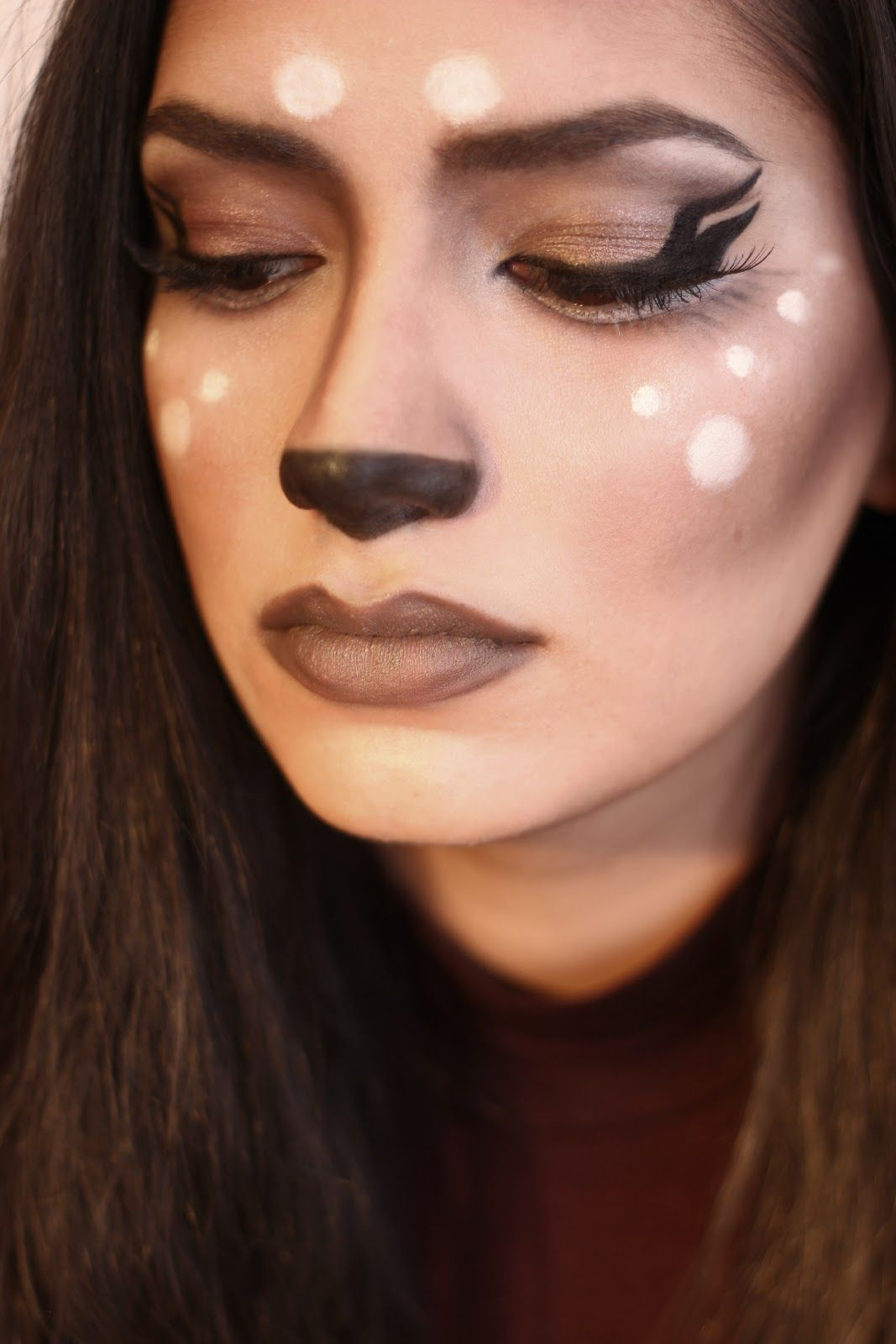 Halloween Make Up Anleitung Tutorial Makeup Featured Inspiration Bambi Deer