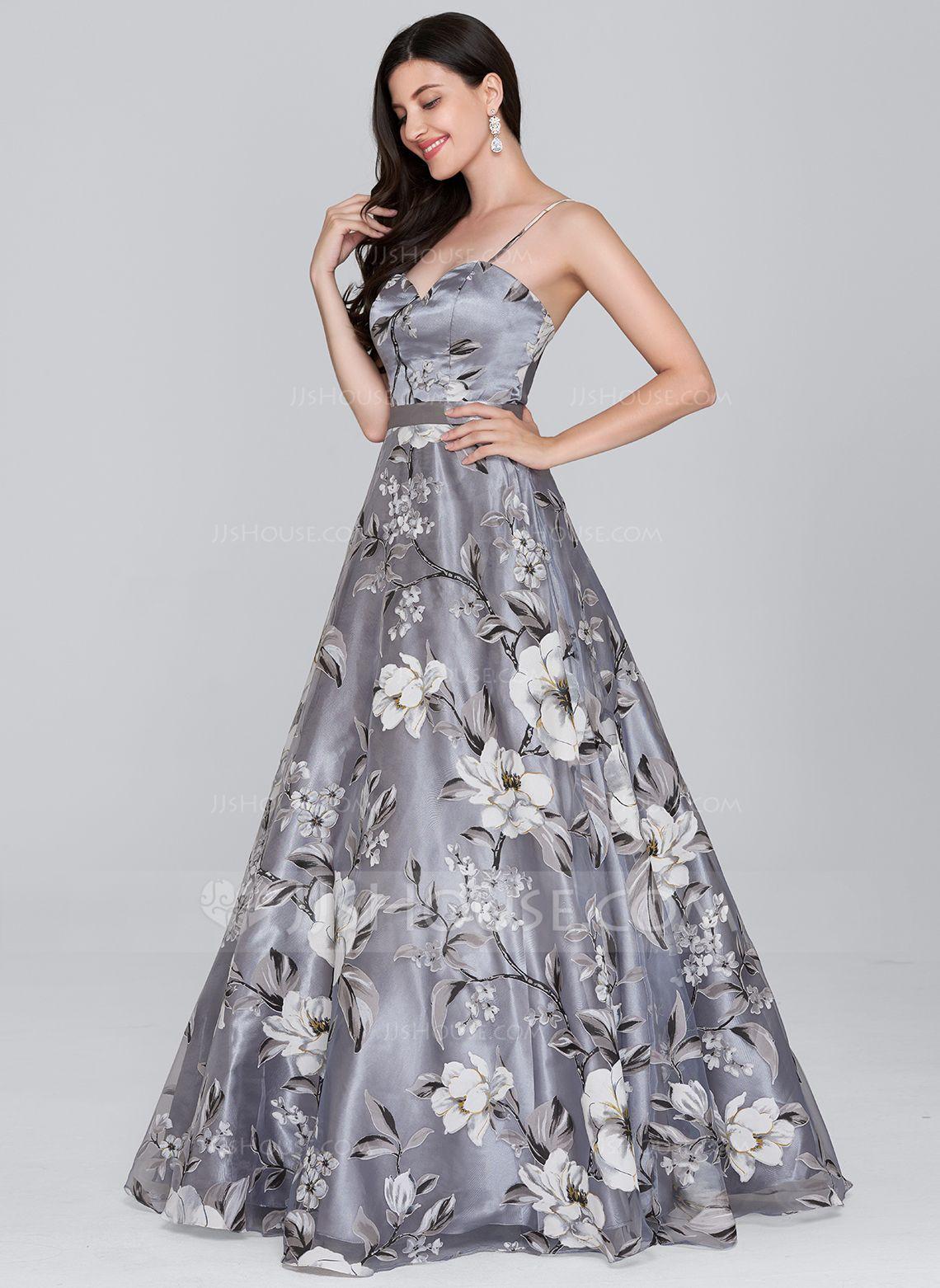 Alineprincess sweetheart floorlength organza prom dress