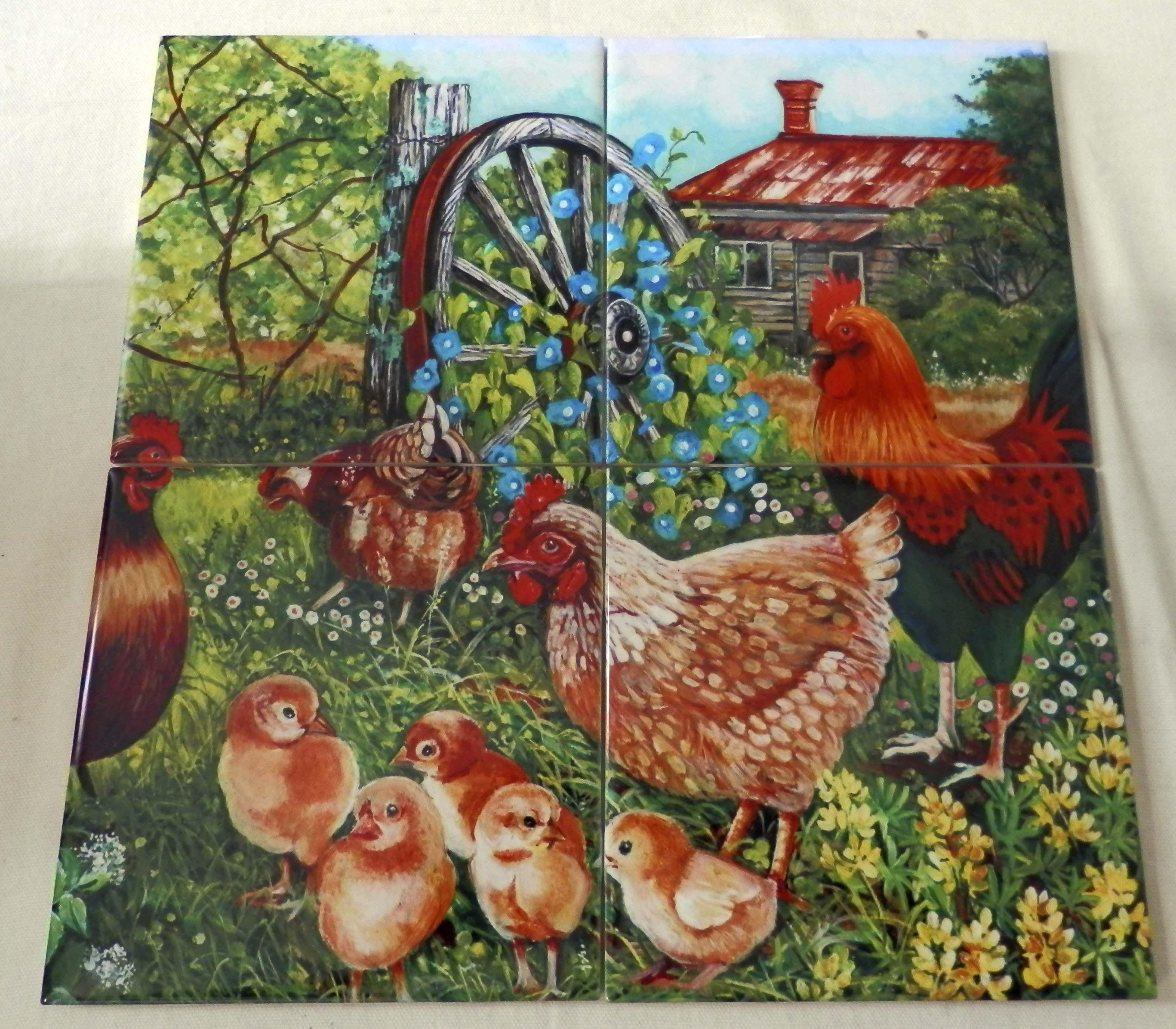 - Farmyard Family II-VS - Tile Mural Tile Murals, Farm Yard