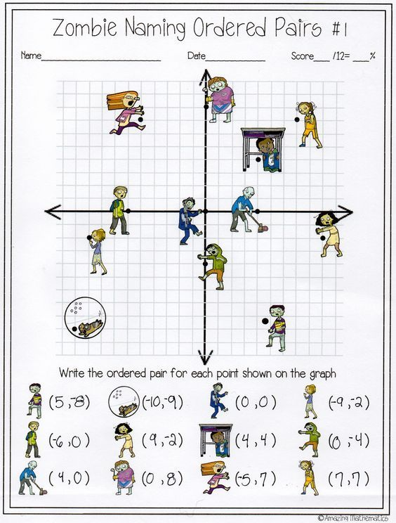 My Math students will love this zombie naming ordered pairs activity ...