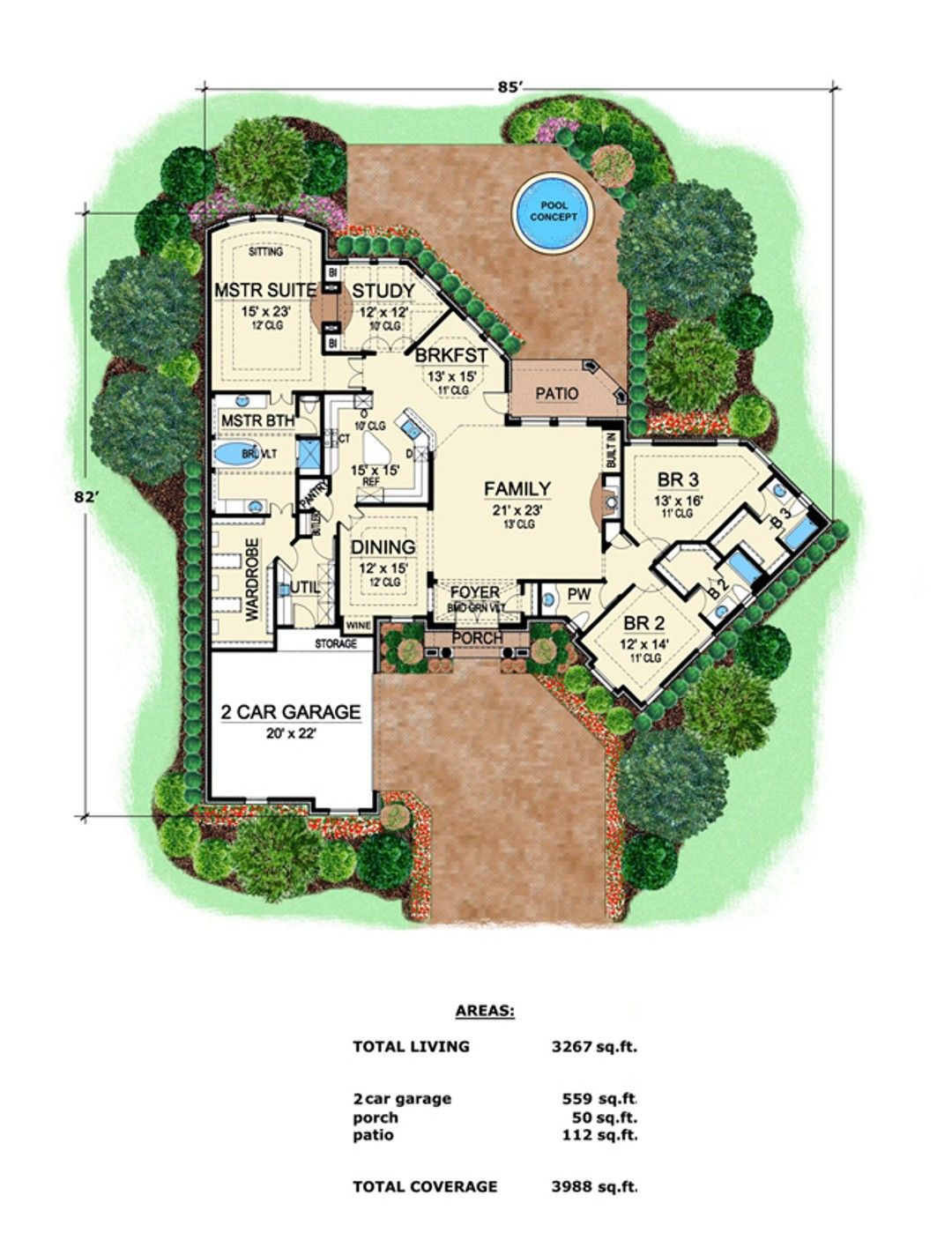 Hpm Home Plans Home Plan 015 1053 In 2021 One Level House Plans House Plans How To Plan