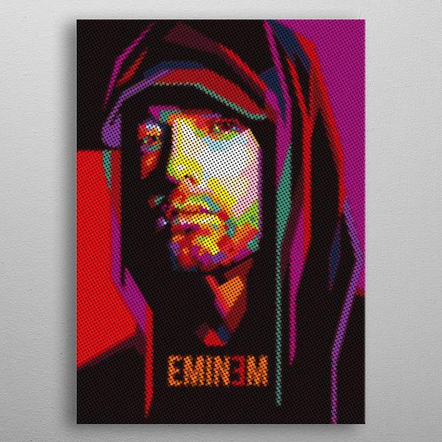 "EMINEM pointillizer popart by ICAL SAID   metal posters - Displate #eminem explore Pinterest"">…   Displate thumbnail"