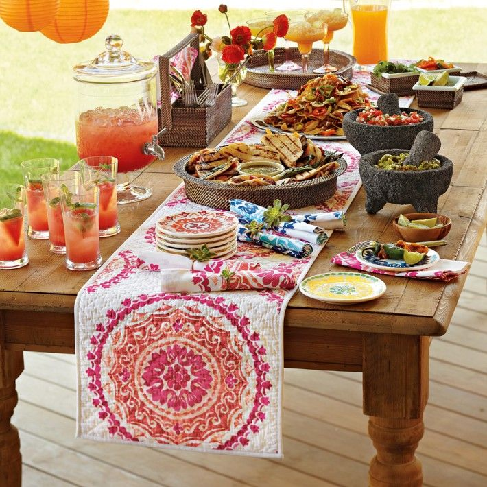 Delightful Cinco De Mayo Tablescape For Table Or Buffet, Fiesta, Party, Backyard, BBQ  U0026 RAMADAN