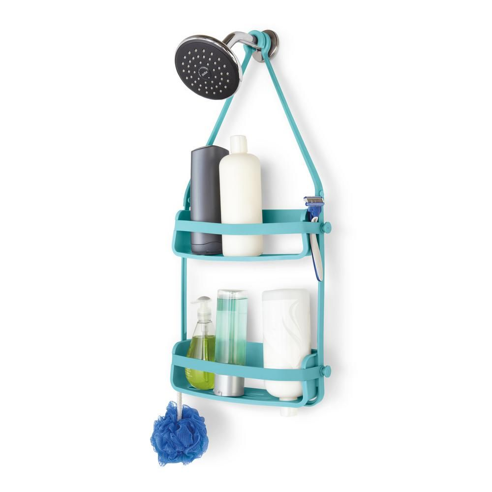 Umbra Flex Shower Caddy Surf Blue Blue Shelves Room Accessories