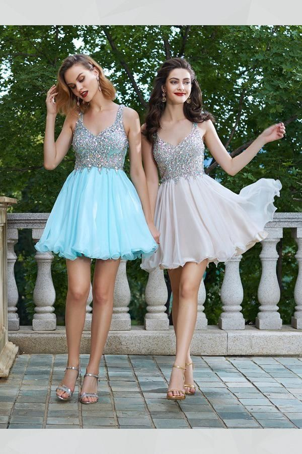 24ea7a77 Sleeveless Prom Dress, Homecoming Dresses Short, A-Line Homecoming Dresses, Prom  Dress Chiffon #PromDressChiffon #SleevelessPromDress ...