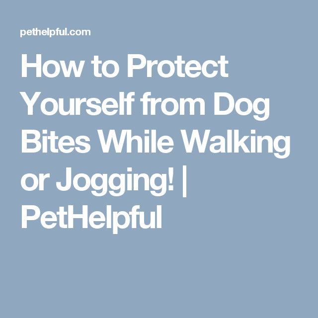 How To Protect Yourself From Dog Bites While Walking Or Jogging Pethelpful