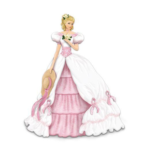 Hope Is In Bloom Elegant Woman Figurine: Breast Cancer Support Gift by The Hamilton Collection