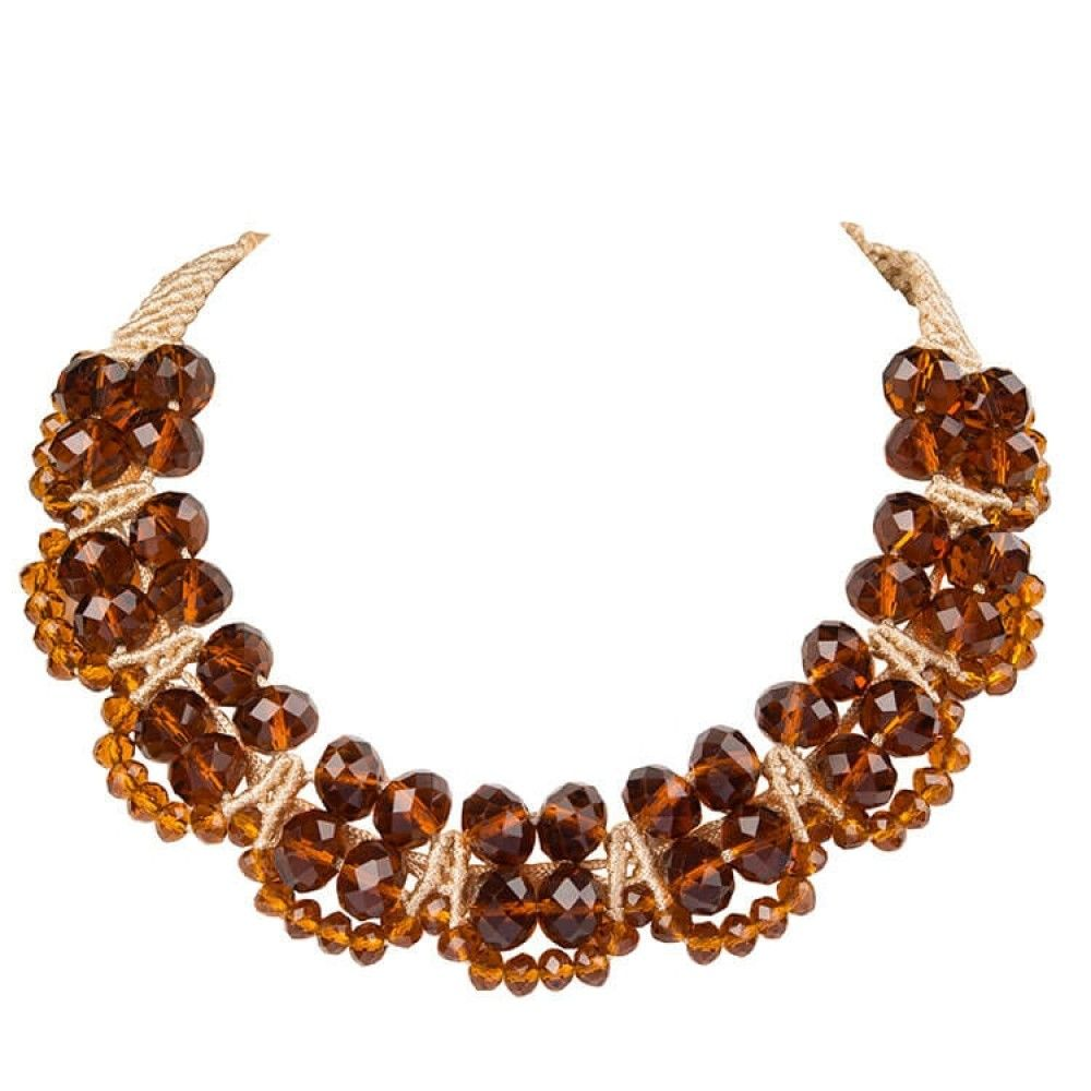 Brown crystal necklace crystal necklace crystals necklace