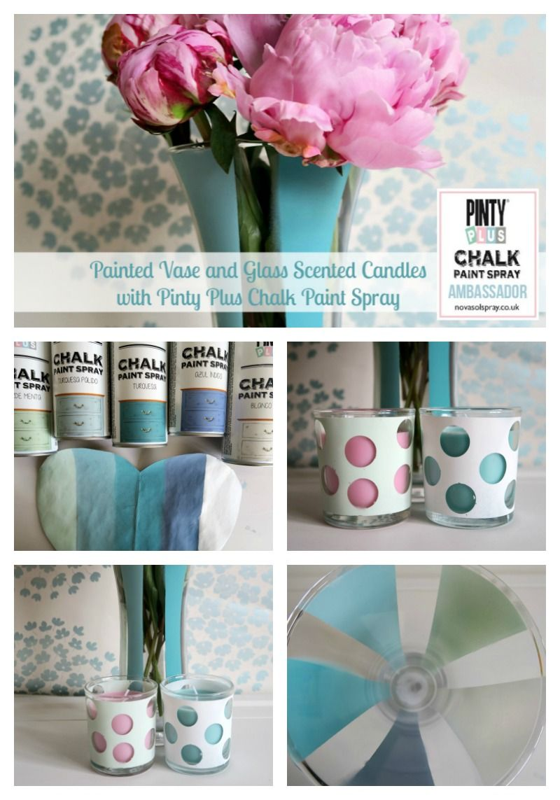 Painted vase and glass scented candles with pinty plus chalk paint painted vase and glass scented candles with pinty plus chalk paint spray reviewsmspy