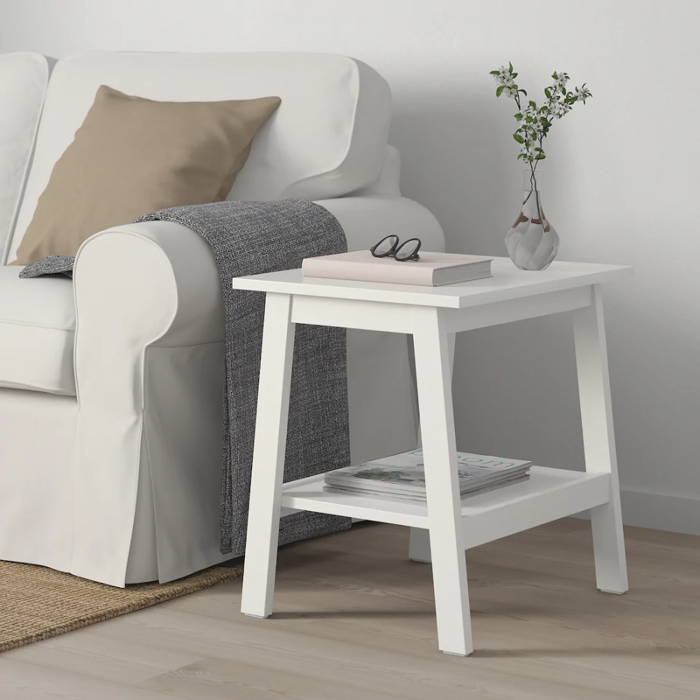 Lunnarp Side Table White 21 5 8x17 3 4 Ikea In 2021 White Side Tables Ikea Side Table Living Room Table [ 1000 x 1000 Pixel ]