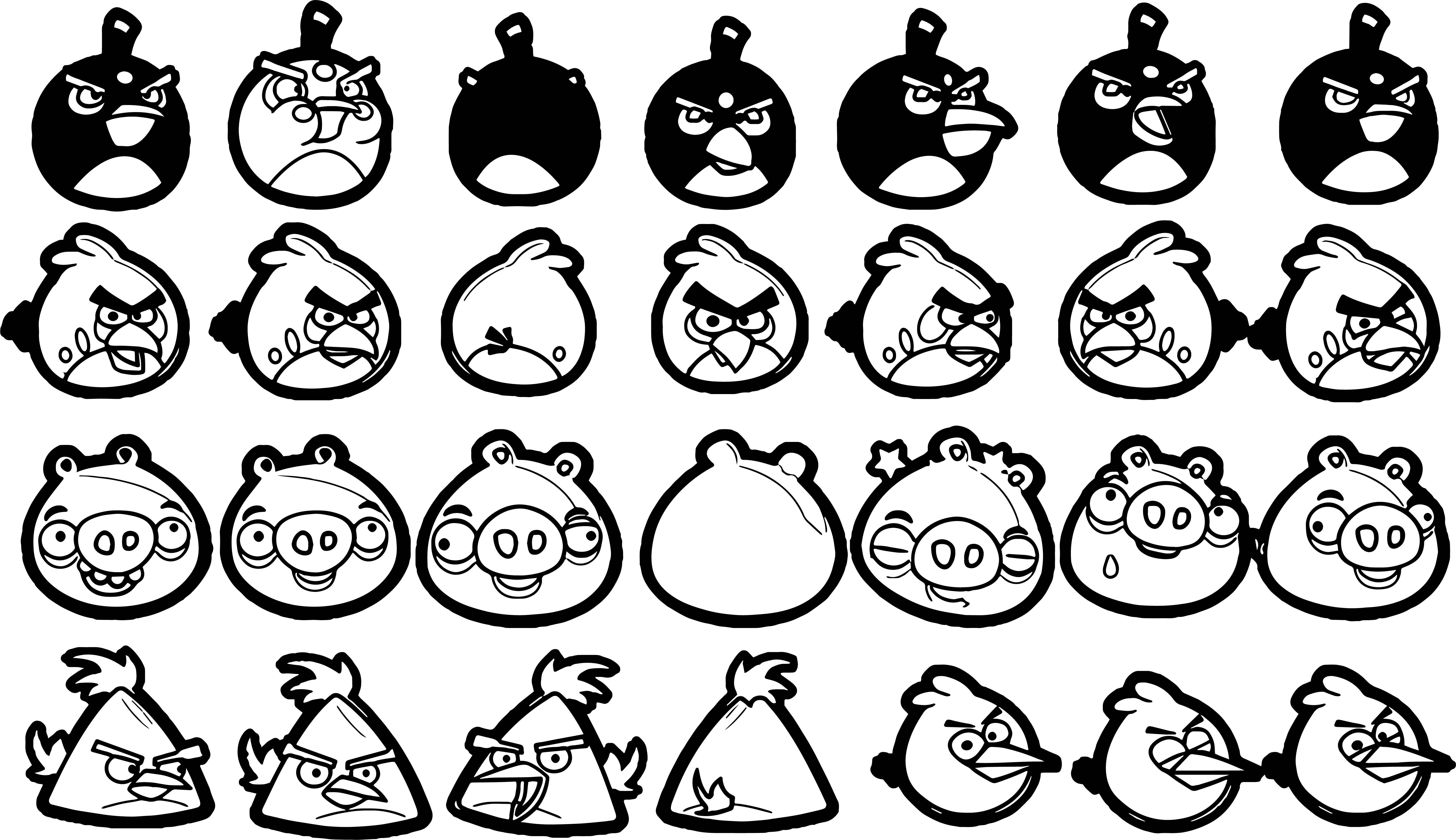 Cool Angry Bird Characters Coloring Page Coloring Pages Bird