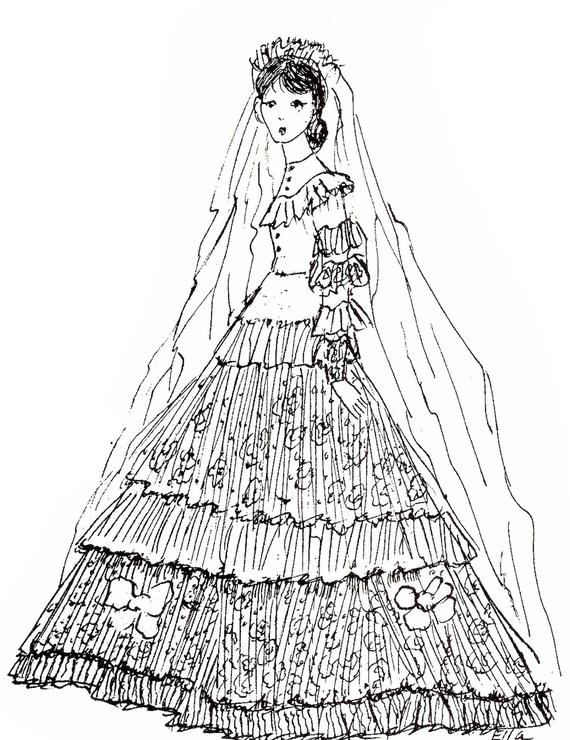 Dollhouse, Doll Clothes Pattern, Vintage Pattern, Ella