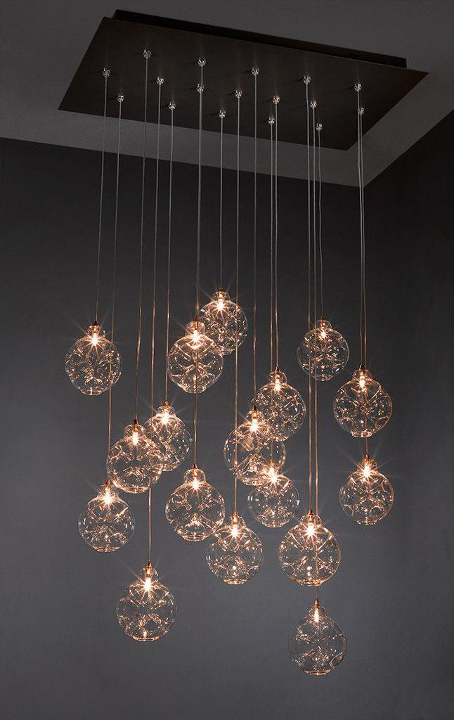 Cloud Crafted Hand Blown Glass 13 22 Pendnats Cool Light Fixtures Dining Lighting Pendant Lighting Living