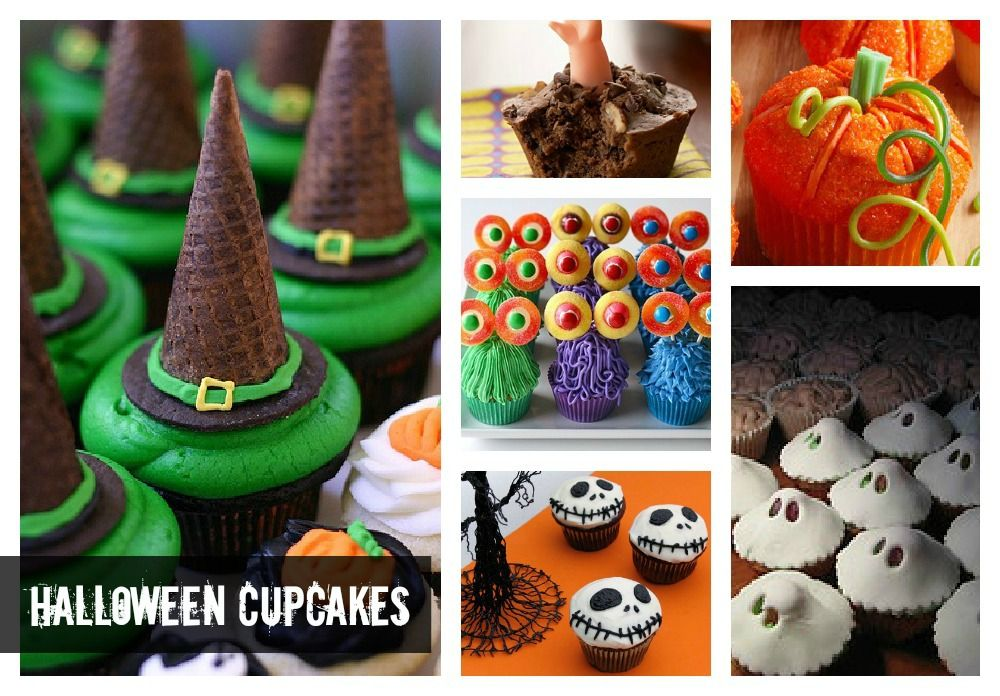 CUPCAKES Halloween Cupcakes Colorful Cupcakes Pinterest Nail - how to decorate cupcakes for halloween