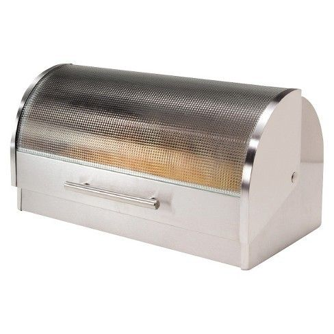 Target Bread Box Simple Ofgie Stainless Steel Breadbox $44 Target  Home Shop  Pinterest Review
