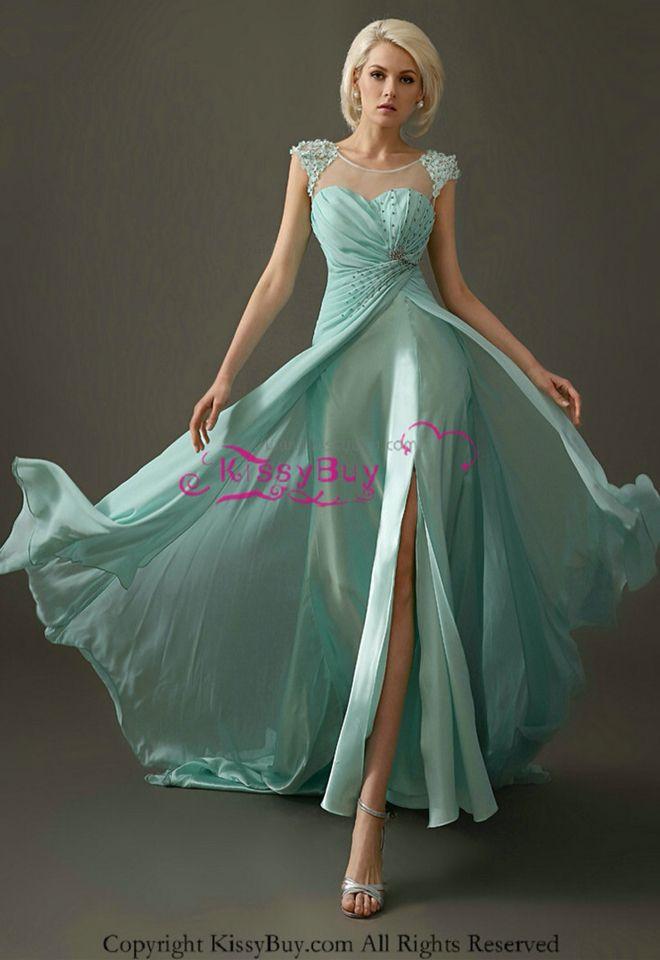 Lind@ Astrid.vestido de fiesta Aqua