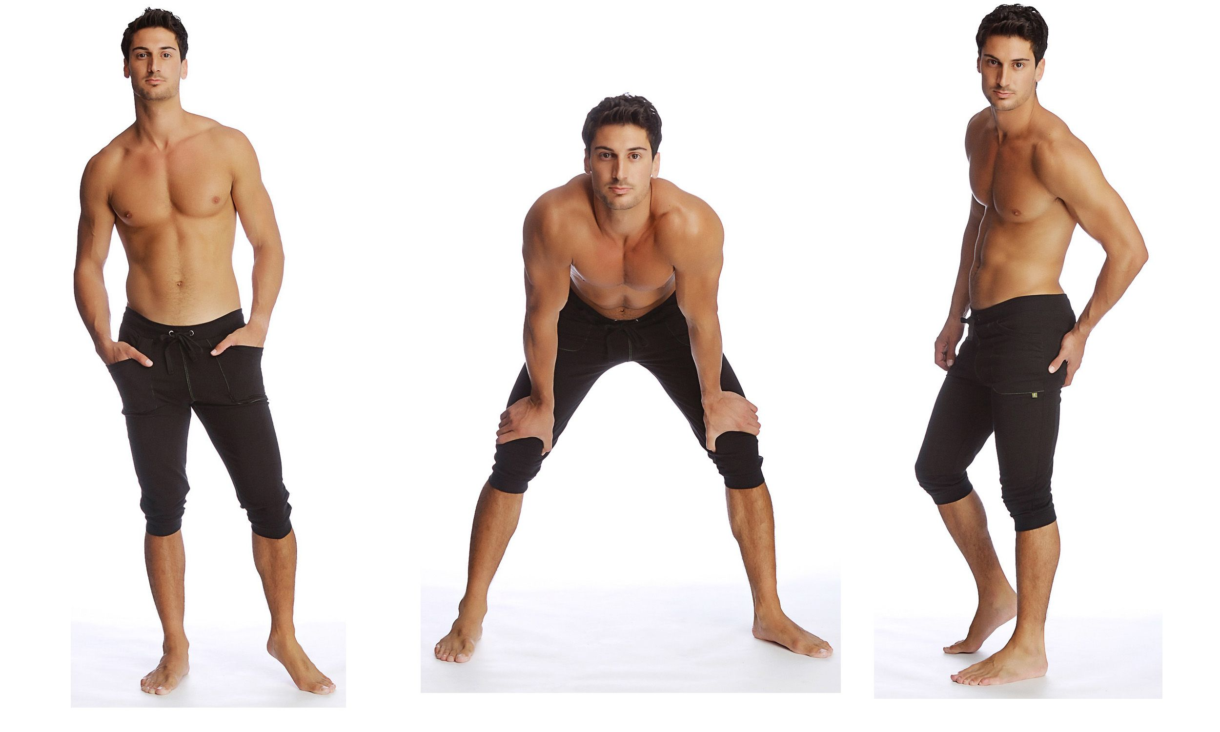Cuffed Yoga Pants for Men (black). Mens yoga pants | Men's yoga ...
