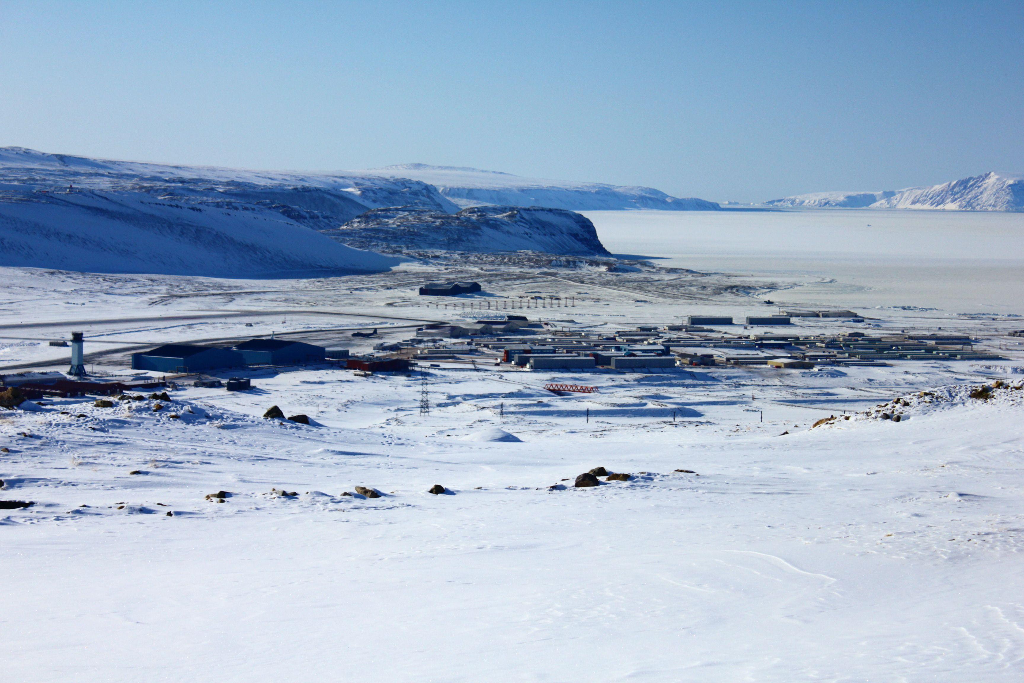 A Shot Of Thule Air Base Greenland Thule Travel