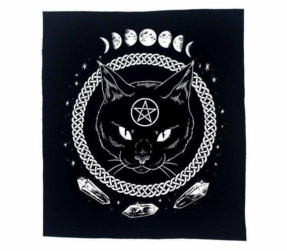 Die Bildsprache ist weiß ungiftige, umweltfreundliche Tinte auf schwarz Baumwollgewebe gedruckt. Waschbar, annähen Patch Ca. 11 x 13 Zoll  Bitte
