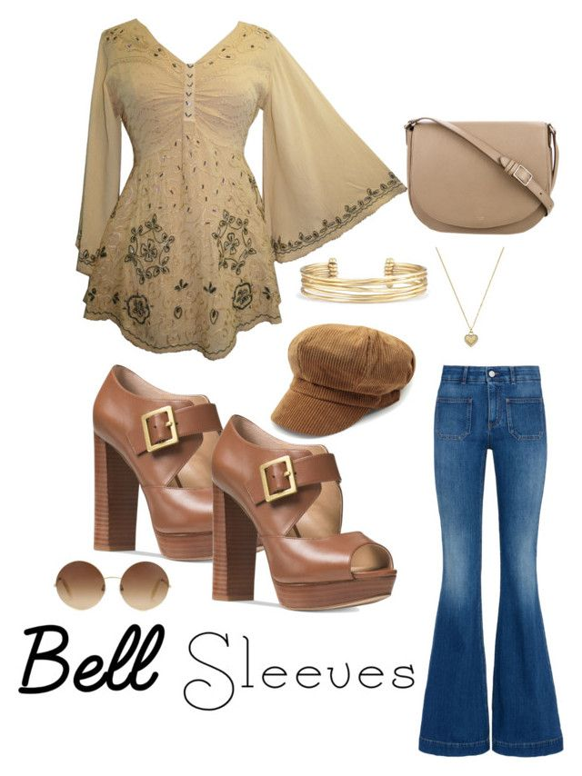 """Bell Sleeves"" by dark-moon-010 ❤ liked on Polyvore featuring STELLA McCARTNEY, Michael Kors, CÉLINE, Victoria Beckham and Stella & Dot"