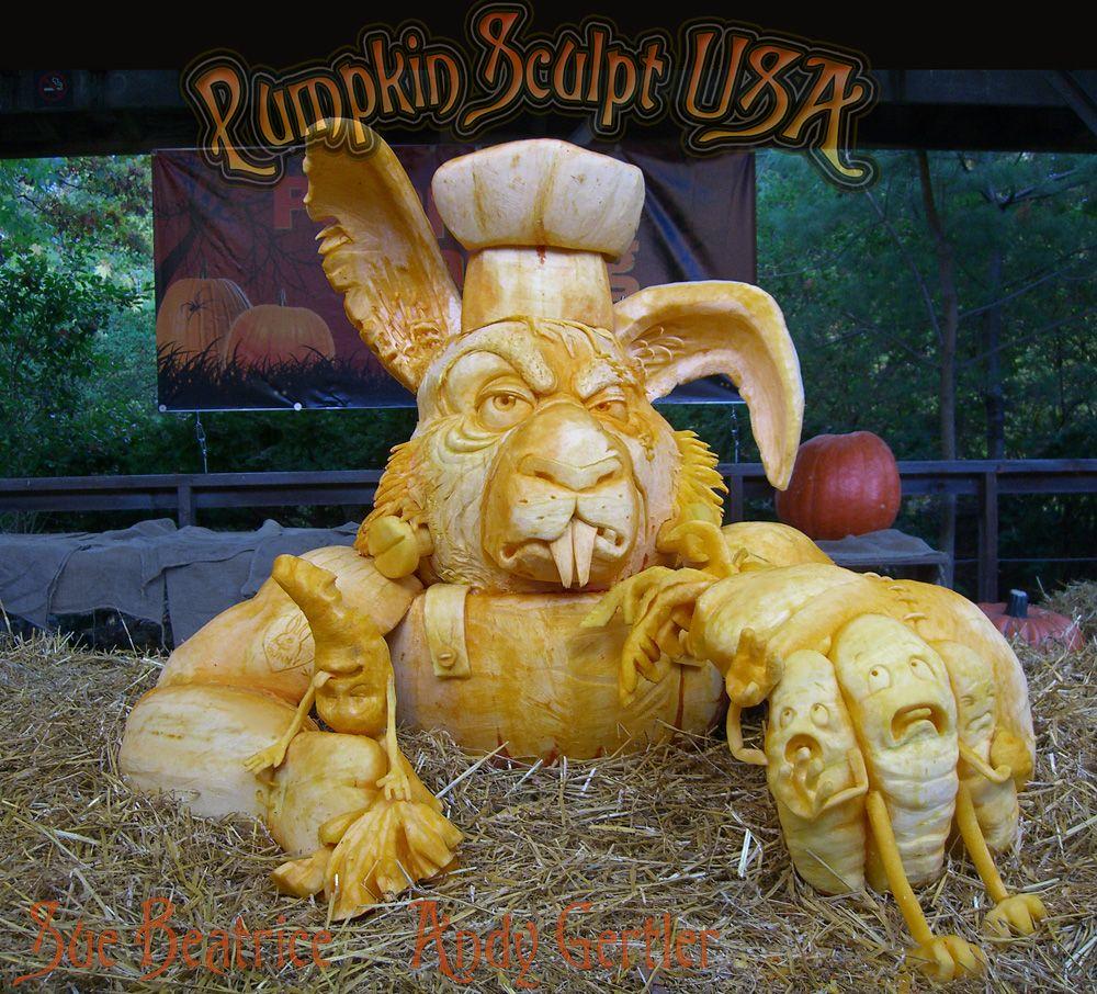 Pumpkin Sculpting at the Bronx Zoo