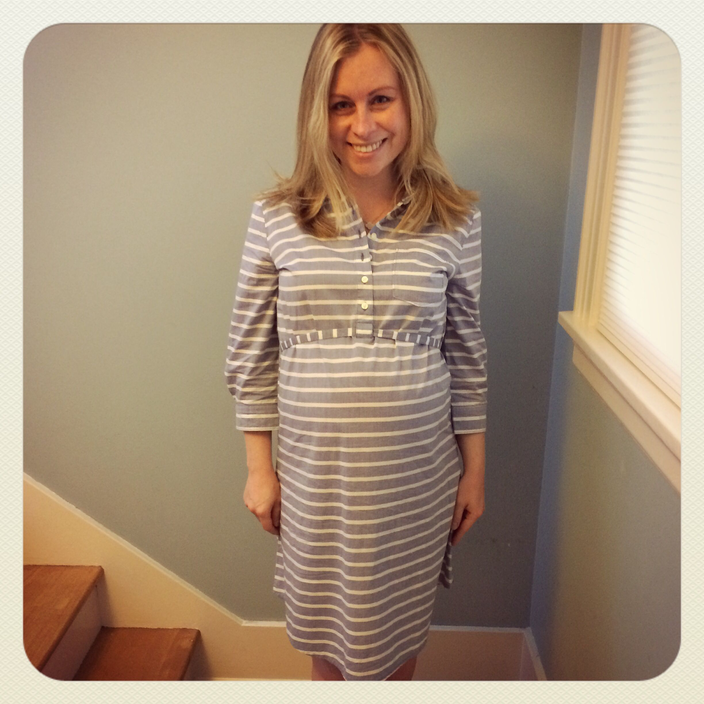 345 weeks in gap maternity dress ninas pregnancy fashion 345 weeks in gap maternity dress ombrellifo Image collections