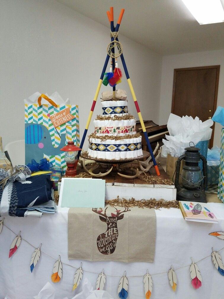 Teepee Diaper Cake Baby Shower Baby Gifts Boy Shower