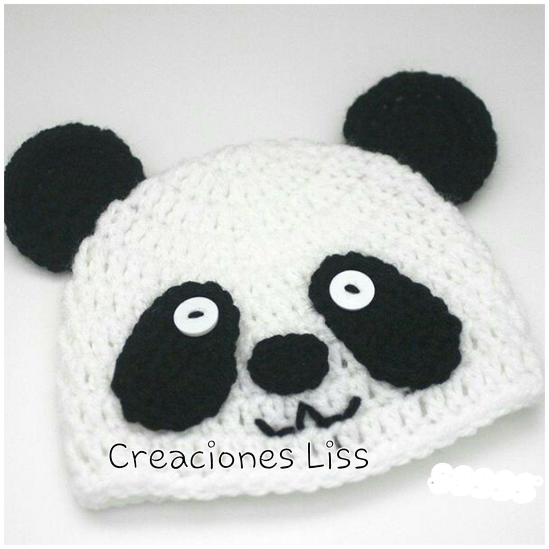 Crochet baby hat panda | Crocheted baby hats, Baby hats and Crochet baby