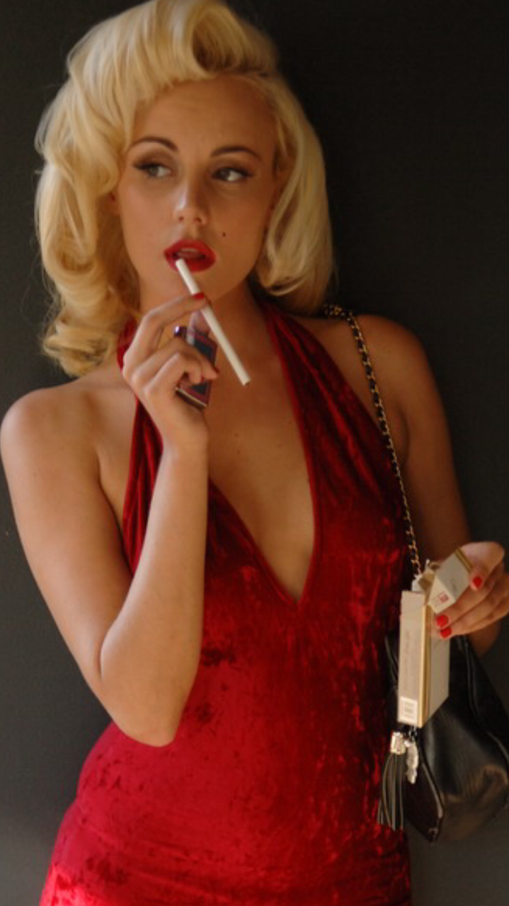 smoking sexy cigarette