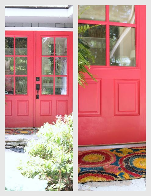 Woven Home Hot Pink Front Door Valspar Berry Blush Outside The