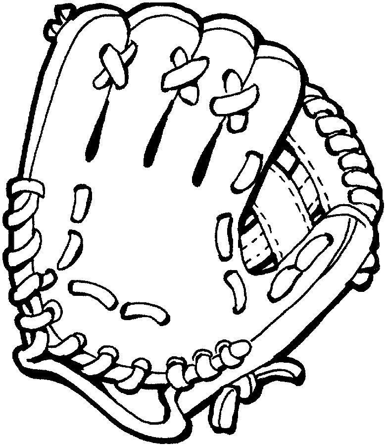 Baseball Glove Coloring Page 001 Baseball Coloring Pages Sports Coloring Pages Football Coloring Pages