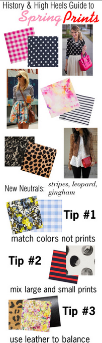 Spring Print Guide: Ways to Mix Spring Prints Like a Pro! via History & High Heels #patternplay #printplay