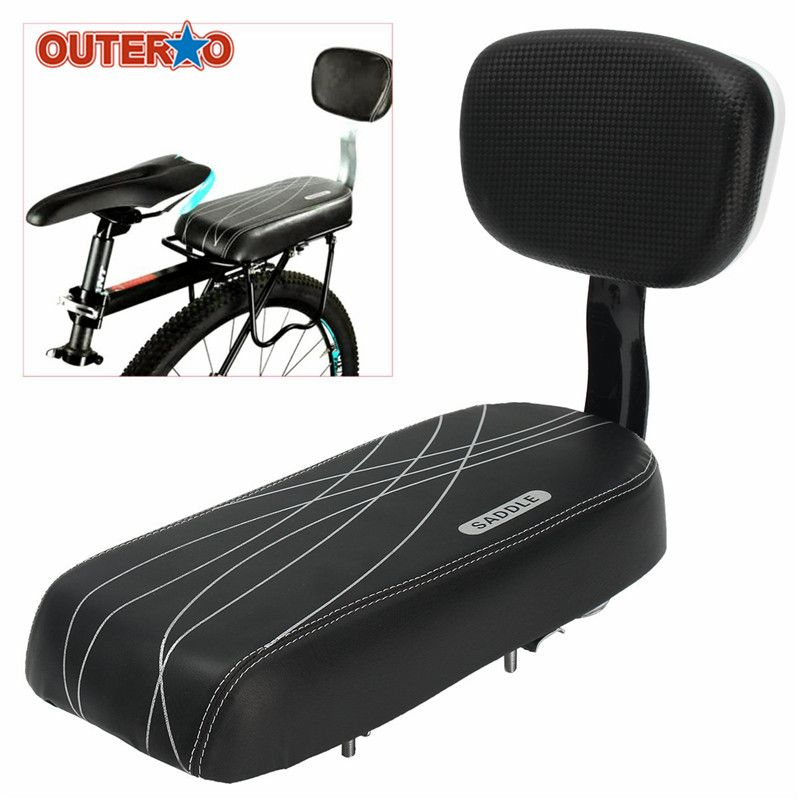 1X Wide Comfortable Tricycle Mountain E-Bike Bicycle Saddle Seat Pad w//Back Rest