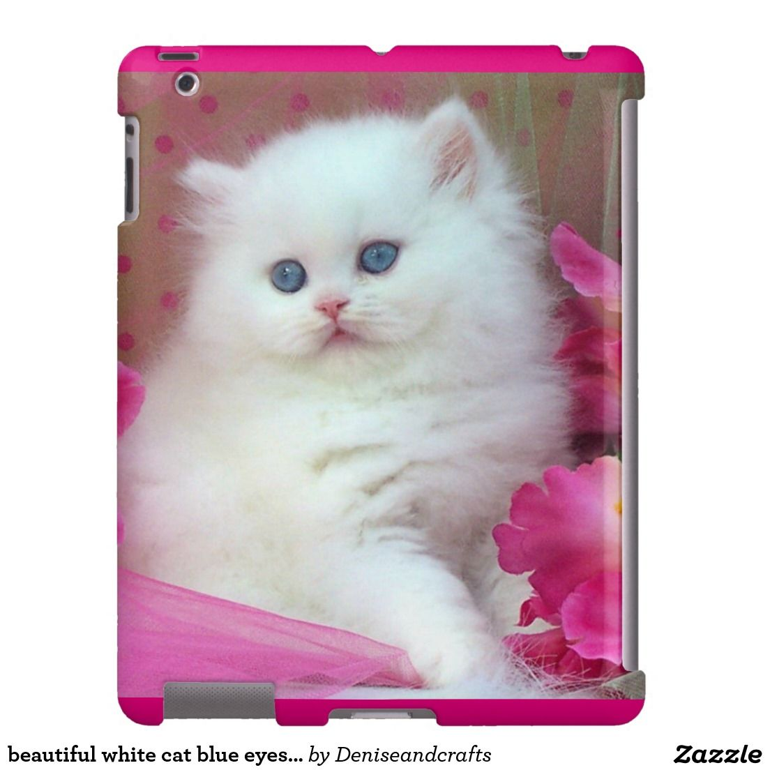Beautiful White Cat Blue Eyes Ipad Case Beautiful Ipad Case Ipad Case Case