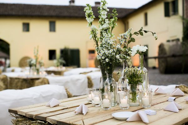 Matrimonio Country Chic Lago Di Garda : Un matrimonio country chic a cascina lisone decorazioni matrimonio