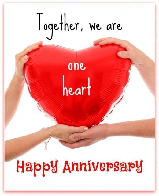 One Heart Happy Anniversary Quotes Anniversary Quotes Happy