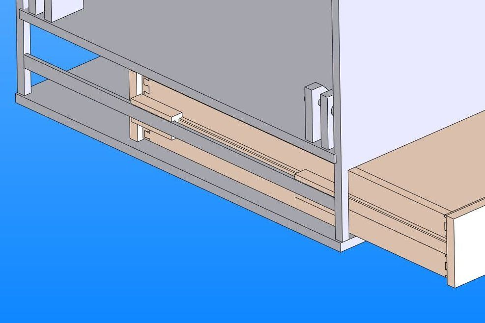 The Coolest Two Way Drawer Slides Drawer Slides Drawers Woodworking Techniques
