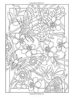 creative haven butterfly schmetterling papillon farfalla da mariposa motl borboleta fjril coloring for adults kleuren - Creative Haven Coloring Books