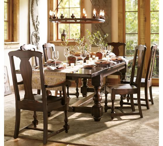 Cortona Extending Table Chair 7 Piece Dining Set Pottery Barn 7 Piece Dining Set Dining Furniture Sets