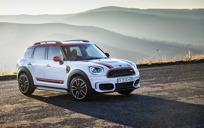 Download Wallpapers Mini Cooper S Countryman All4 4k 2018 Cars White Countryman Crossovers Mini Besthqwallpapers Com Mini Cooper S Mini Cooper Mini