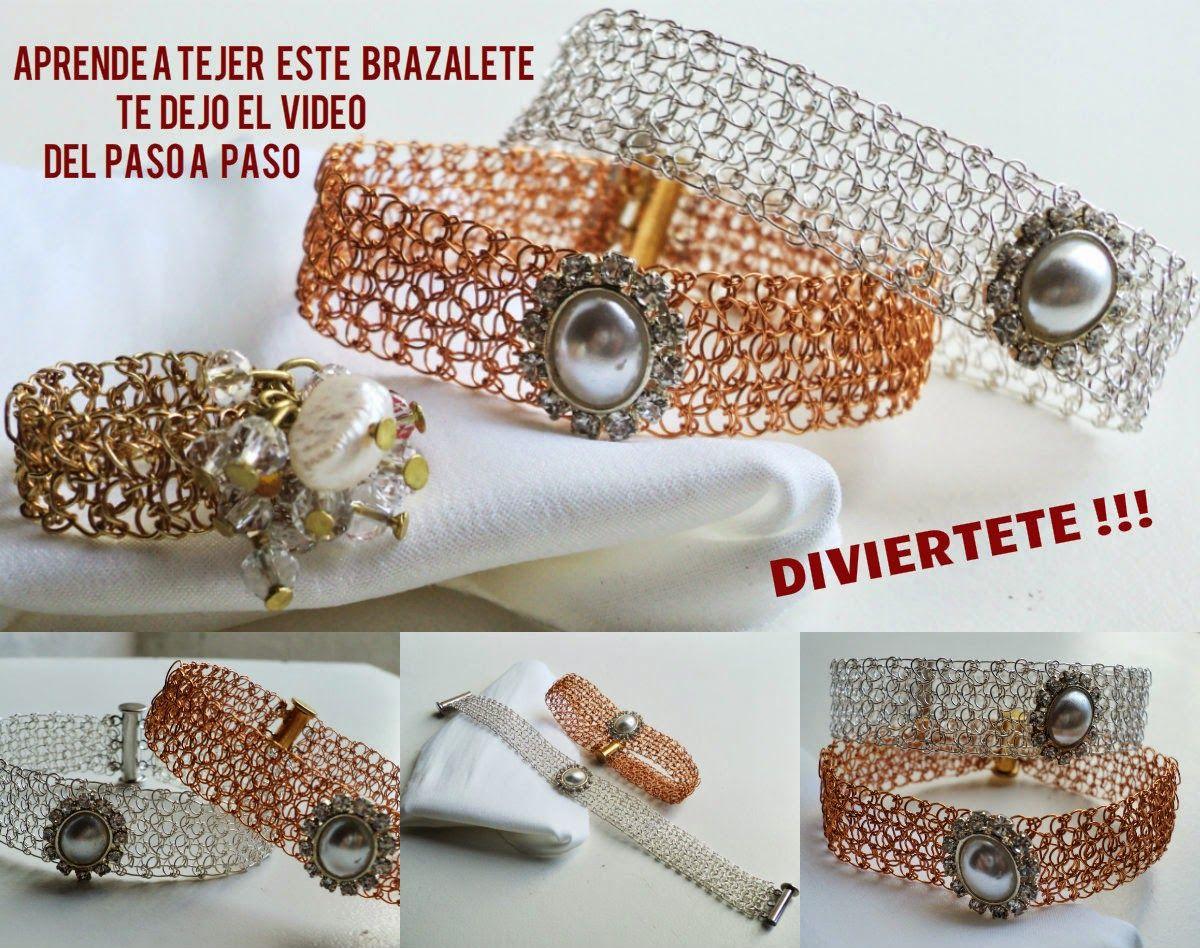 Pin de Cecilia Kandia en beauties crochet   Pinterest   Brazalete ...