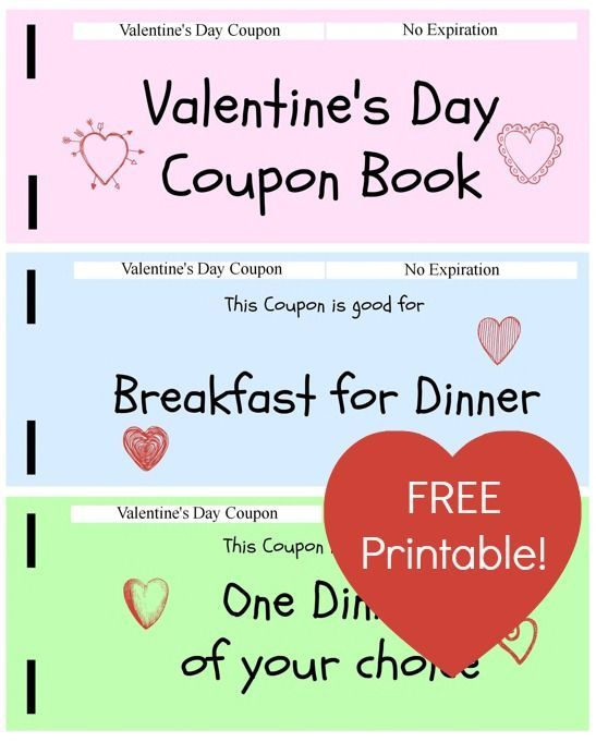 Free Printable Valentines Day Coupon Book For Kids  Jinxy Kids