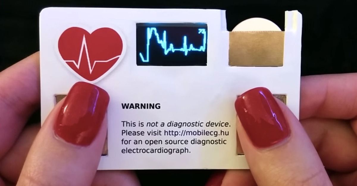 This cool business card will also tell you your pulse rate ...