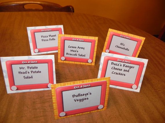 Toy Story Birthday Party Food Tents/Labels Set of by