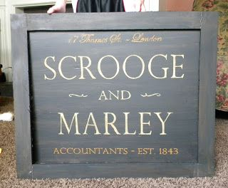 Scrooge and Marley Counting House Sign | A Christmas Carol | Pinterest | House signs, Christmas ...